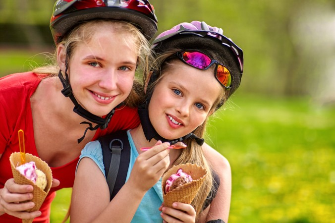 Was wäre eine Radtour ohne Eis-Pause zischendurch? Nicht halb so schön! Gerade die Kinder genießen das sehr! (#2)